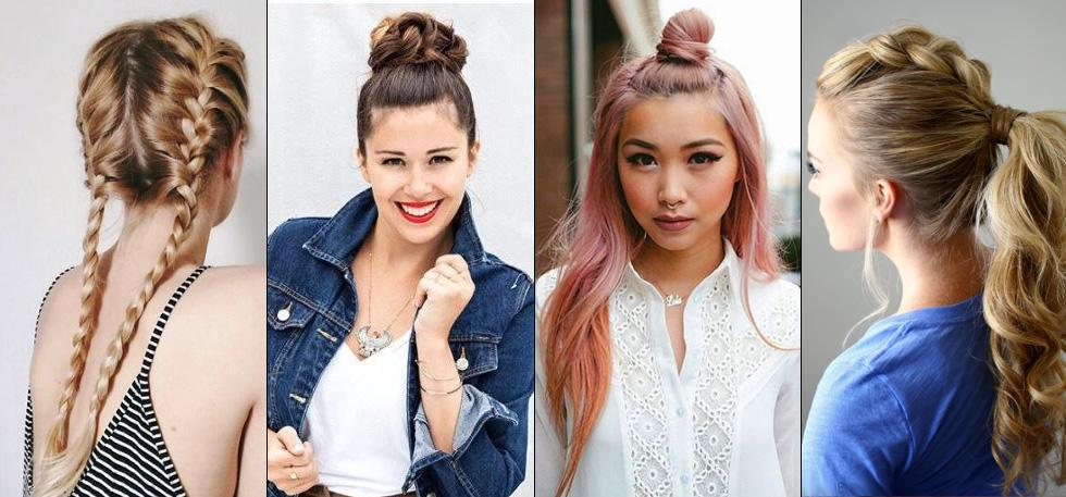 3 Easy Updos For Medium Hair To Do By Yourself Wavy Hair Style