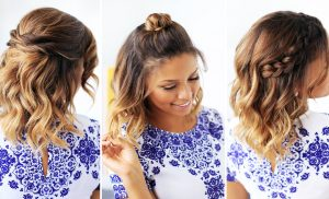 3 Easy Updos for Medium Hair to Do by Yourself